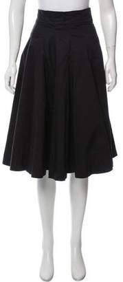 Alexander McQueen Knee-Length Godet Skirt