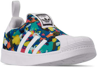 detailing d5b36 e5327 adidas Little Girls Superstar 360 Slip-On Casual Sneakers from Finish Line