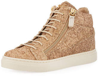 Giuseppe Zanotti Mattglitt High-Top Glitter Sneakers, Toddler/Youth Sizes 10T-2Y