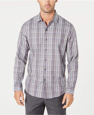 Tasso Elba Men's Dobby Plaid Shirt