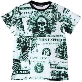 John Richmond Dollar Bills Print Cotton Jersey T-Shirt