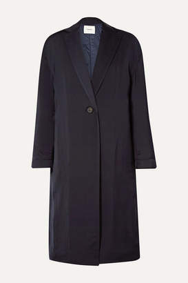 Vince Crepe Coat - Midnight blue