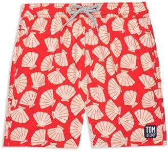 Trunks TOM & TEDDY Boys' Shell-Print Swim Little Kid, Big Kid