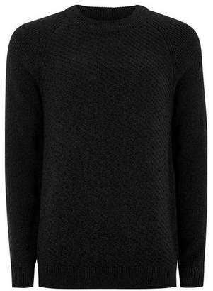 Topman Mens SELECTED HOMME Black High Neck Sweater