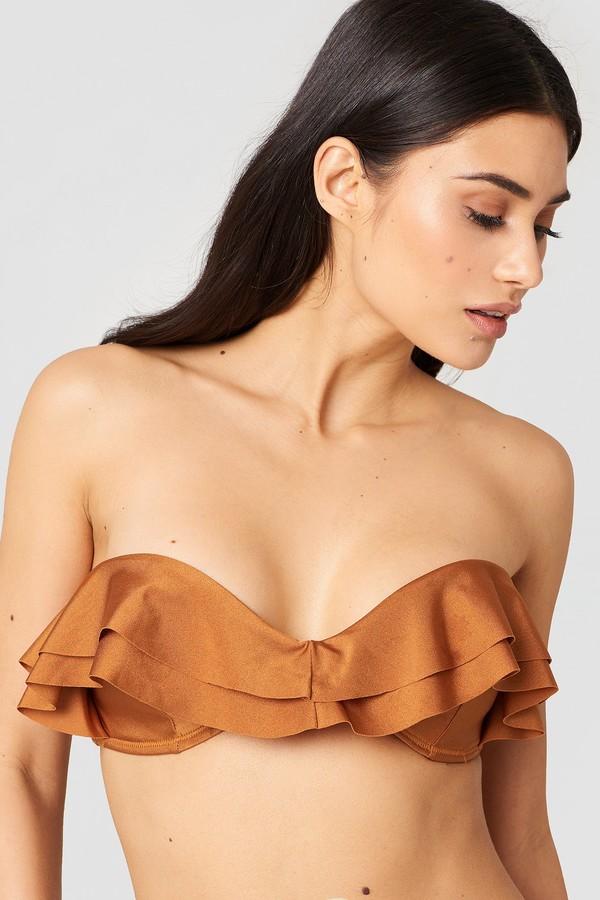 Hannalicious X Double Flounce Bikini Top
