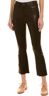 Rag & Bone Hana Black Leather High-Rise Curvy Skinny Leg