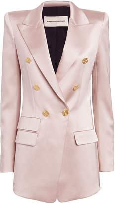 Alexandre Vauthier Satin Double Breasted Blazer