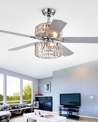 Home Accessories Ferris Crystal Baguette Chandelier Ceiling Fan