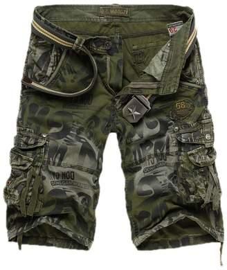 3.1 Phillip Lim ECHOINE Men's Soft Cotton Camo Cargo Shorts Plus Size
