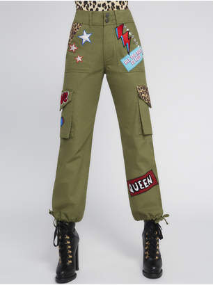 Alice + Olivia HIGH WAISTED PATCHWORK CARGO PANT