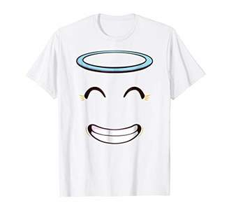 Smiling Angel Emoticon Face Halloween Costume T-Shirt