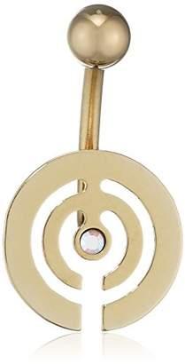PURE Grey Unisex Multi Coloured CZ Dangle Belly Button Navel Piercing Titanium Made in Germany Brilliant Cut Jewel – Eternit Ybells 10 ZRN CR AB
