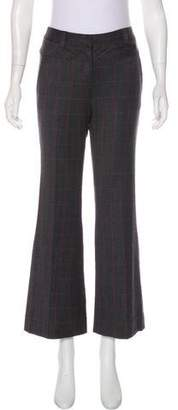 Diane von Furstenberg Burnes Wool Windowpane Pants