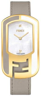 Fendi Chameleon Leather Strap Watch, 29mm