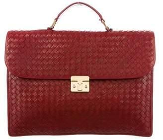 Bottega Veneta Intrecciato Leather Briefcase red Intrecciato Leather Briefcase
