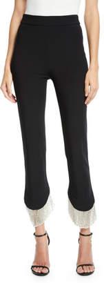 Alexis Ashley Asymmetrical Fringe Skinny Pants