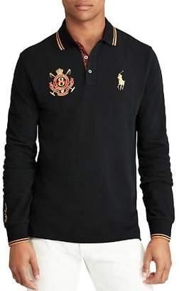 Polo Ralph Lauren Long Sleeve Custom Slim Fit Mesh Polo