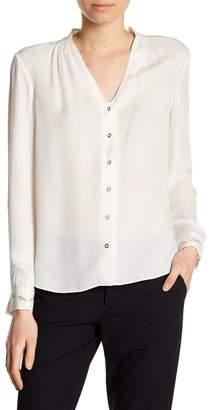Elie Tahari Darnia Long Sleeve Silk Blouse