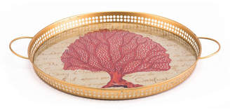 ZUO Red Coral Tray Red