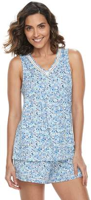 Croft & Barrow Women's Printed Tank & Shorts Pajama Set