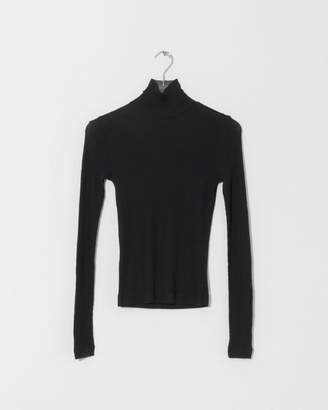 Alexander Wang Sheer Rib Long Sleeve Turtleneck