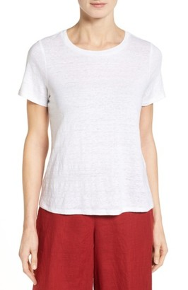 Women's Eileen Fisher Organic Linen Tee $98 thestylecure.com
