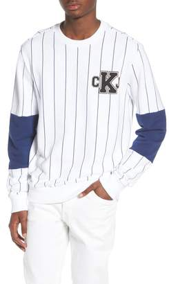 Calvin Klein Jeans Stripe Blocked Sweatshirt