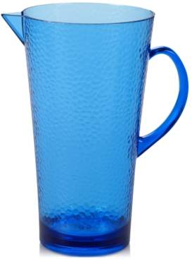 Certified International Blue Acrylic Pitcher