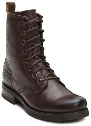 Frye Women's Veronica Metallic Leather Combat Boots