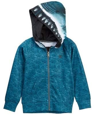 Hurley Full Zip Shark Hoodie (Little Boys)