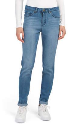 Petite High Waist Roll Cuff Skinny Jeans