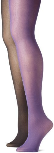Betsey Johnson Women's 2 Pair Pack Solid Opaque Tights