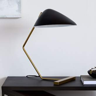 west elm Curvilinear Mid-Century Table Lamp - Black