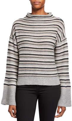 Splendid Everest Striped Wool Flared-Sleeve Sweater
