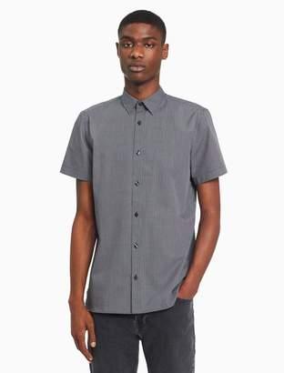 Calvin Klein big + tall check short sleeve shirt