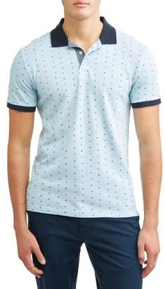 Lee Men's Short Sleeve Printed Pique Polo, Available up to size XL