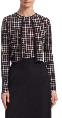 5c8828921f2401 Akris Punto Women s Check Bolero Cardigan - Black - Size 2