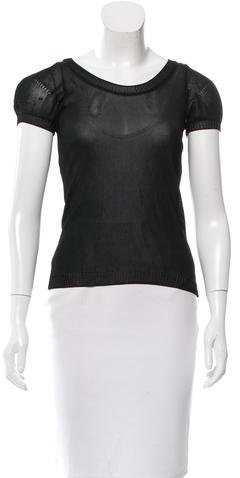 Christian Dior Knit Short Sleeve Top