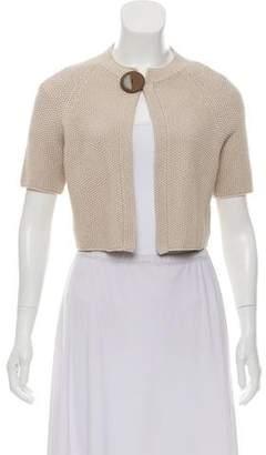 Fabiana Filippi Short Sleeve Button-Up Cardigan