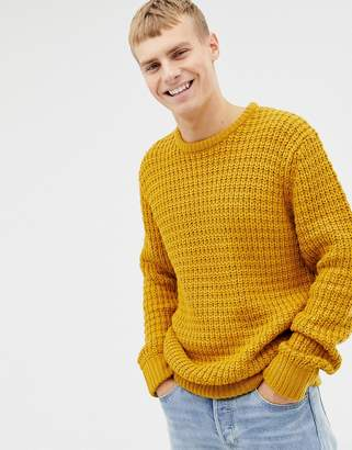 Brave Soul Premium Heavy Weight Chunky Waffle Knit Sweater