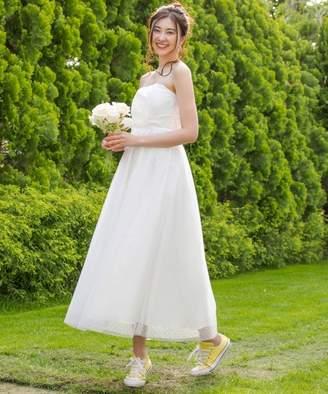フォルムフォルマ 【結婚式・ウェディングドレス】kaene/ドットチュールレースフレアロングウェディングドレス