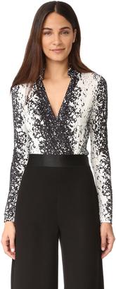 Diane von Furstenberg New Jeanne Bodysuit $298 thestylecure.com