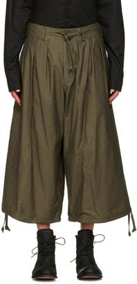Yohji Yamamoto Green Balloon Trousers $770 thestylecure.com