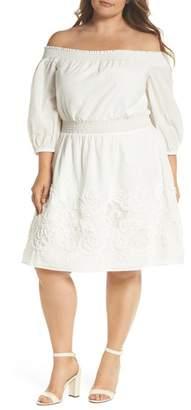 Chelsea28 Off the Shoulder Peasant Dress (Plus Size)