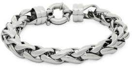Saks Fifth Avenue Stainless Steel Round Braided Bracelet