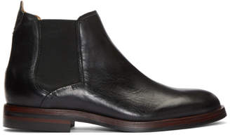 H By Hudson Black Tonti Chelsea Boots