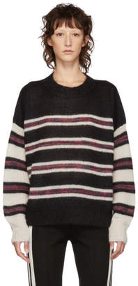 Etoile Isabel Marant Black and White Mohair Russel Sweater