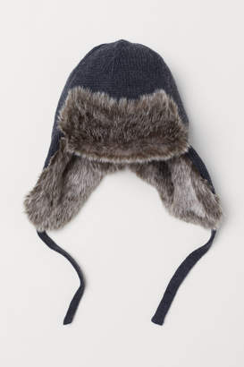 H&M Hat with Earflaps - Black