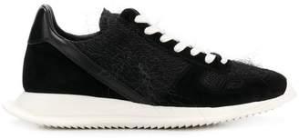 Rick Owens textured panel sneakers