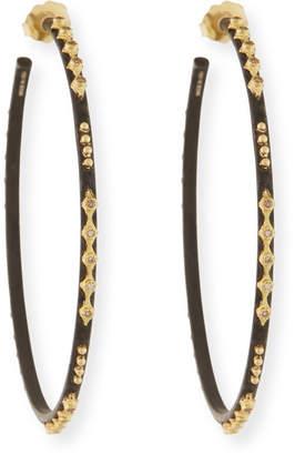 Armenta Old World Crivelli Hoop Earrings with Diamonds
